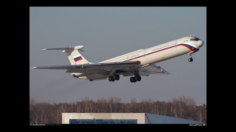 Чкаловский: руление и взлёт Ил-62М RA-86555