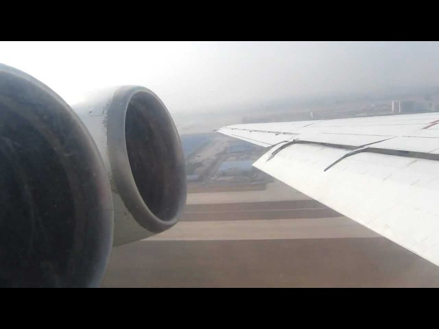 Air Koryo Ilyushin IL-62M P-881 Engine Start Takeoff, Beijing - Window View