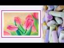 Видео урок Рисуем Пастелью Тюльпаны Dari Art