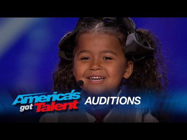 Heavenly Joy: A Cute Kid Taps and Sings In Summer from Frozen - America's Got Talent 2015