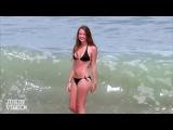 Bikini Model vs. Huge Wave