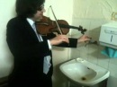 Triple concerto for faucet, water pipes and fiddle...