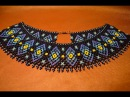 Колье из бисера Народное Гердан Бисероплетение Мастер класс necklace of beads Beading