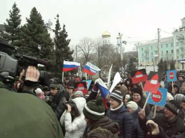 Митинг в Луганске 29.03.2014