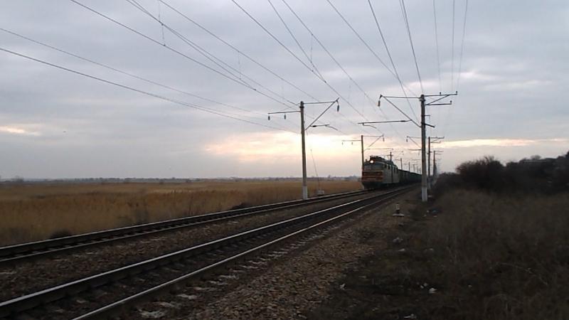 ВЛ80Т-1012 (ТЧЭ-21 Минеральные Воды), перегон Кизитеринка-Александровка, 14 февраля 2016 года.