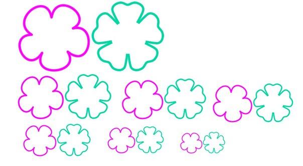 Цветочки для скрапбукинг