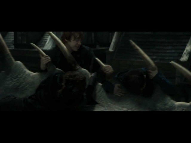 Harry Potter and the Deathly Hallows part 2 - the escape from Gringotts (HD)