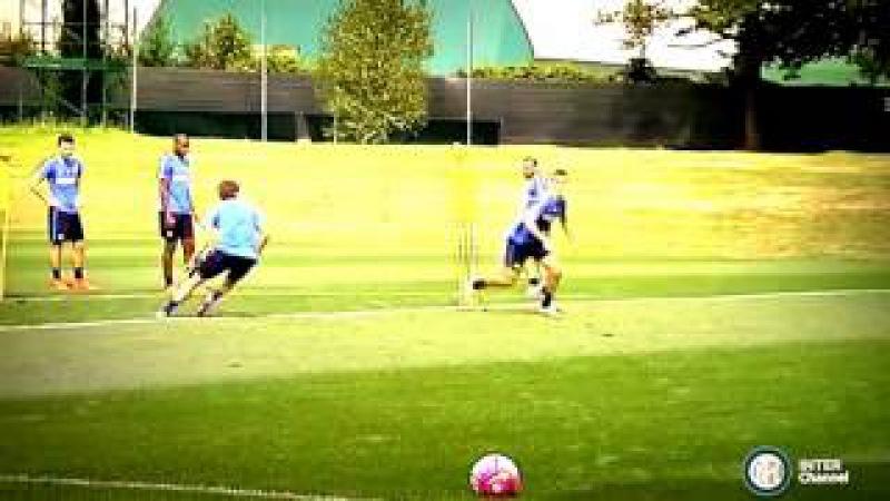 Inter FC First training goals for Ivan Perisic and Adem Ljajic