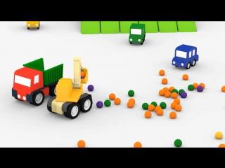 Мультики, мультфильм про машинки для самых маленьких. 4 машинки.