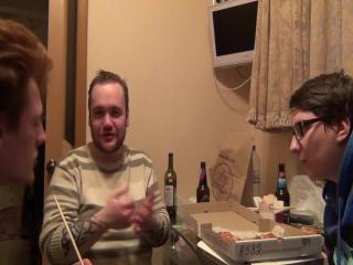 Роллы и пицца на ТОП хате (буду порно актером - Влад Савельев)
