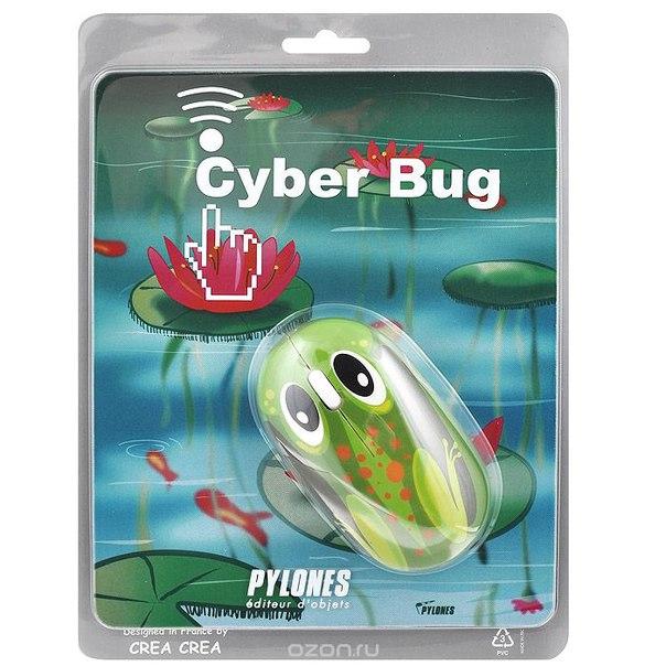 """Комплект """"cyber bug"""": мышь + коврик, цвет: мультиколор. 22757 frog, Pylones"""
