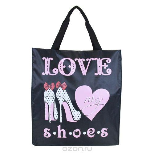 """Сумка """"любимые туфли"""", цвет: черный, розовый. 1-16, Antan"""