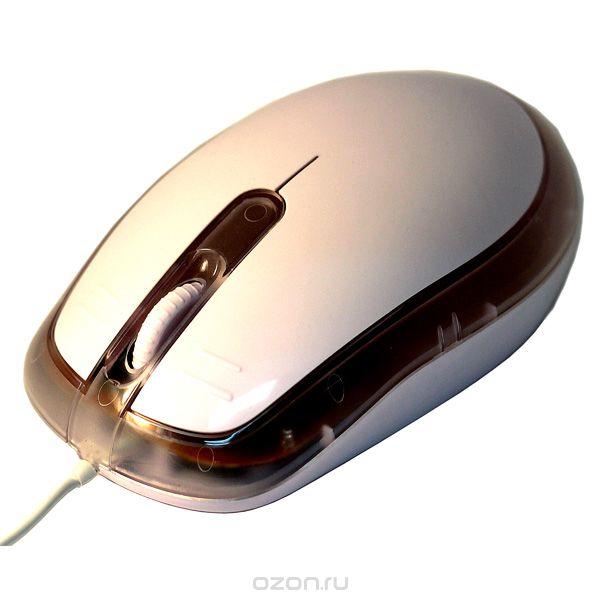 """Оптическая мышь для пк """"гигант"""", цвет: белый. 94831, Эврика"""