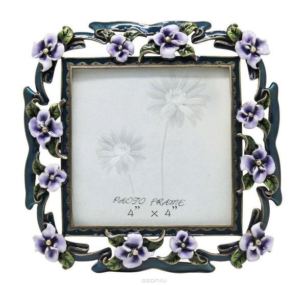"""Рамка для фотографий """"сиреневые цветы"""", 10 см х 10 см. hs-25010e, Jardin d'Ete"""