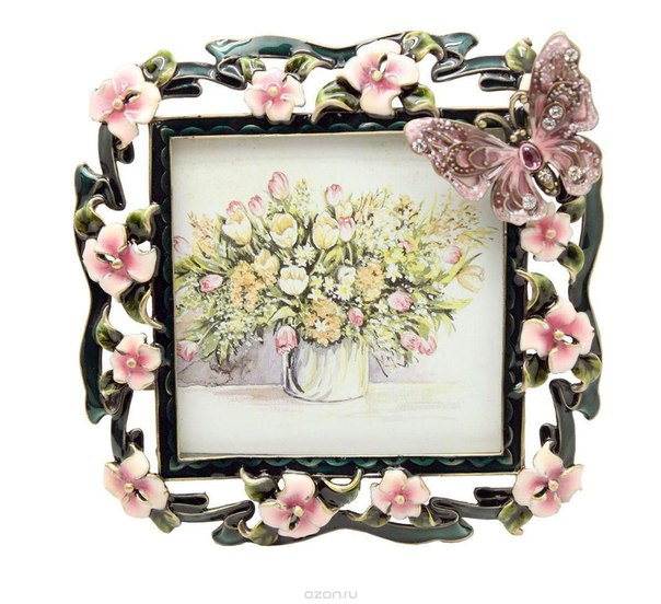 """Рамка для фотографий """"розовые цветы"""", 10 см х 10 см. hs-25010b, Jardin d'Ete"""