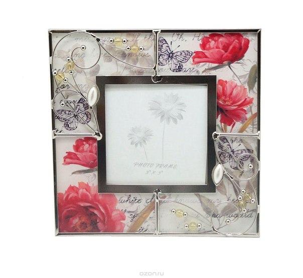 "Рамка для фотографий ""маки"", 8 см х 8 см. hs-24958a, Jardin d'Ete"