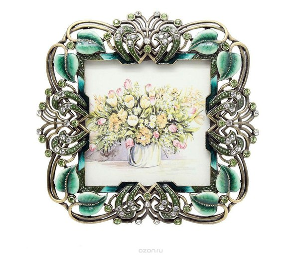 "Рамка для фотографий ""корона"", 10 см х 10 см. hs-25009c, Jardin d'Ete"