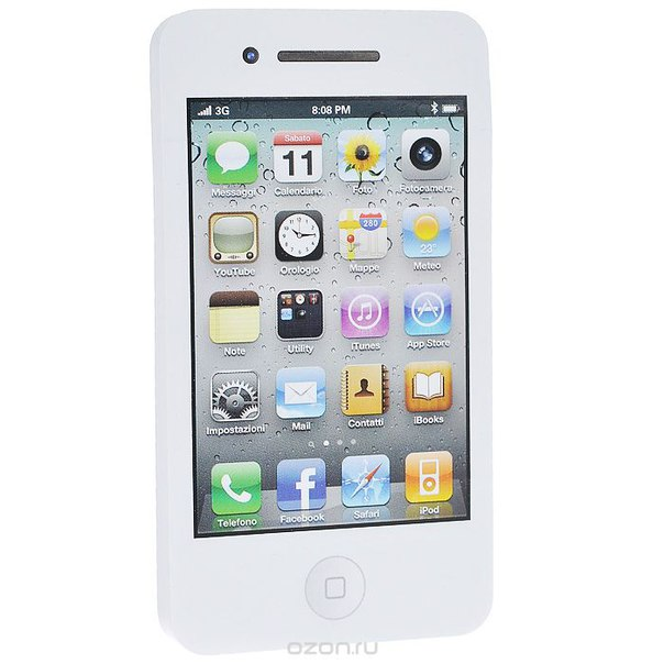 "Стикер ""телефон"", цвет: белый. 002282, Карамба"