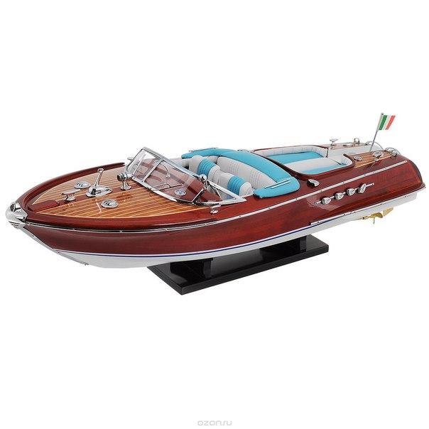 """Модель яхты """"riva aquarama"""", цвет: красно-коричневый, 54 см х 18 см х 12 см, ООО """"Конус"""""""