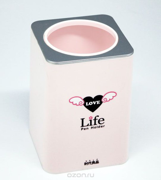 """Подставка для ручек """"life"""", цвет: розовый, Ezh-style"""