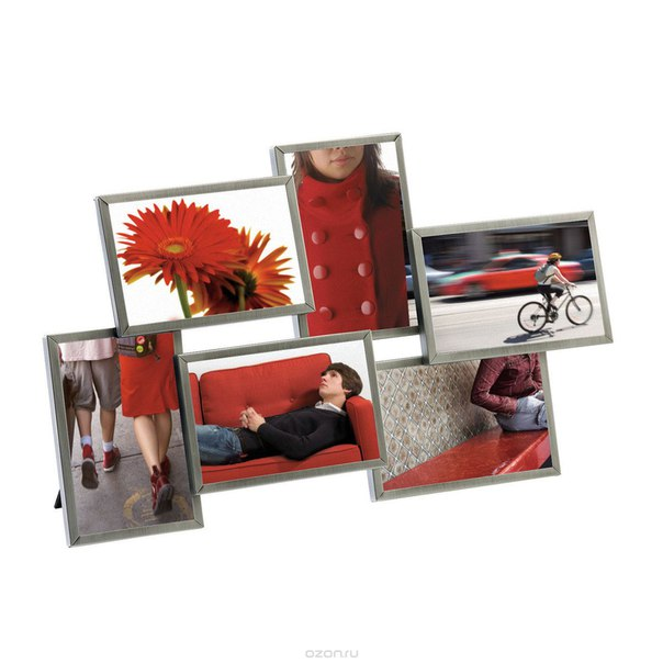 "Мультирамка для фотографий ""flo"", на 6 фото, 10 см х 15 см, Umbra"