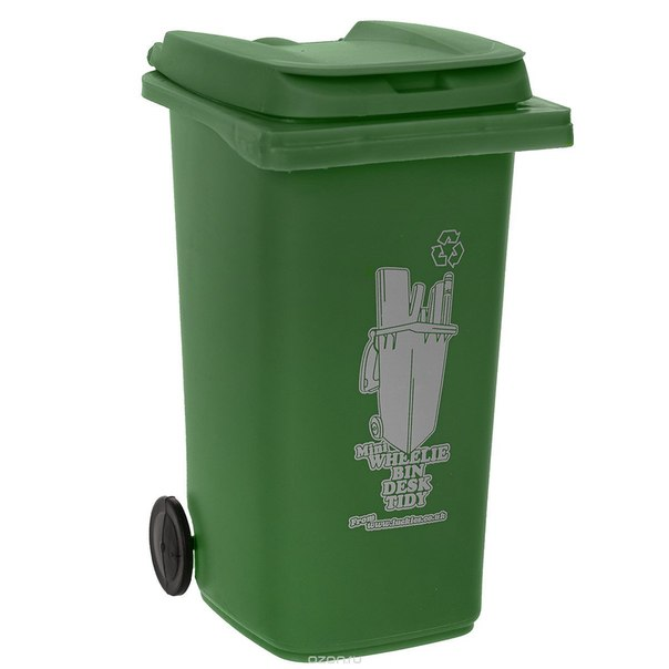 """Органайзер для рабочего стола """"wheelie bin"""", цвет: зеленый, Luckies"""