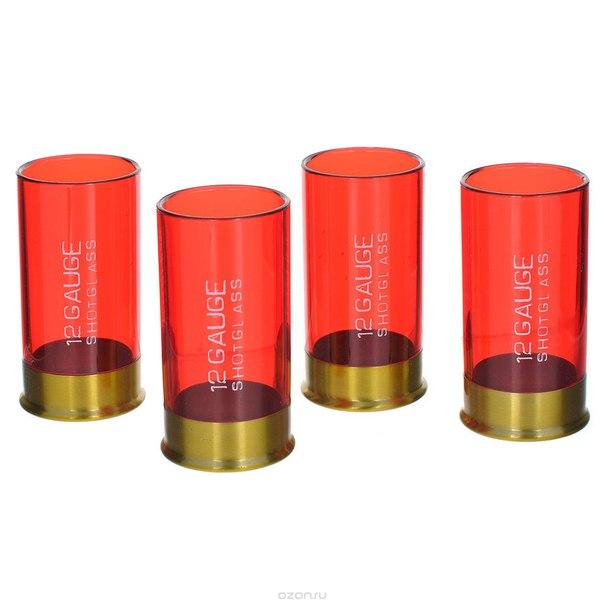 """Набор рюмок """"12 gauge"""", цвет: красный, Mustard"""