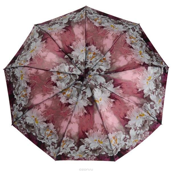 Зонт , автомат, 3 сложения, цвет: фиолетовый. 239444-34, Zest