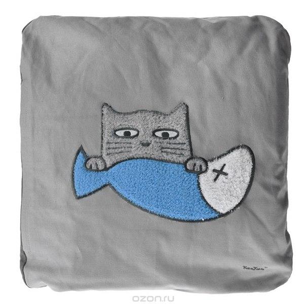 "Подушка ""кот"", цвет: серый. 13160, PETS@work"