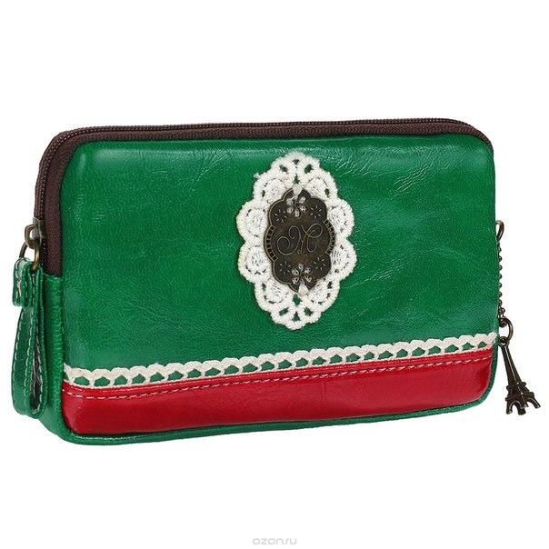 """Мини-клатч """"парижанка"""", цвет: зеленый. 0901029, Ezh-style"""