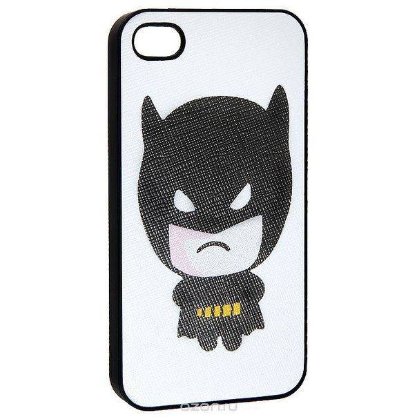 "Кавер на iphone 4 ""бэтмен младший"", цвет: белый, черный. 0700774, Ezh-style"