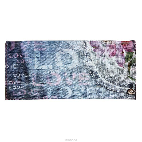 Клатч , цвет: синий, розовый. 10184-15/1070/615, Flioraj