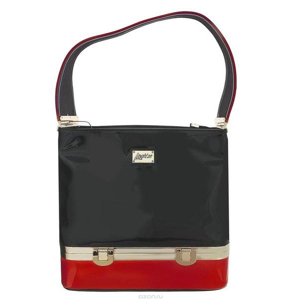 Сумка женская , цвет: черный, красный. 62227-6770/028/102/1056/1, Leighton
