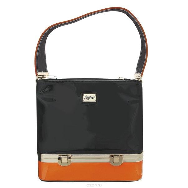 Сумка женская , цвет: черный, оранжевый. 62227-6770/028/116/1056/1, Leighton