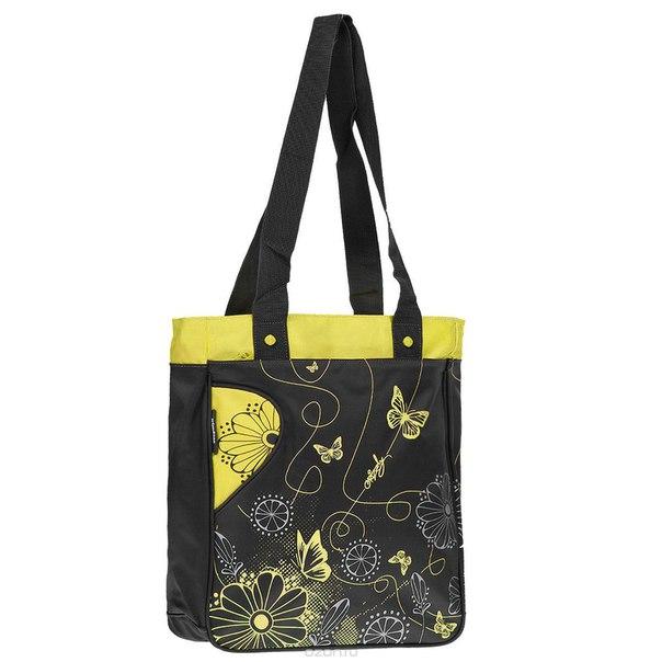 Сумка молодежная , цвет: черный, желтый. md-409-2/1, Grizzly