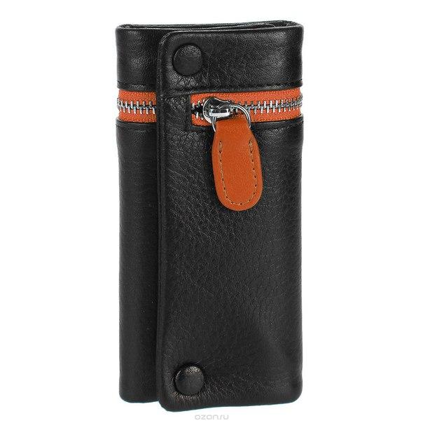 Ключница , цвет: черный, оранжевый. qk27or, S.Quire