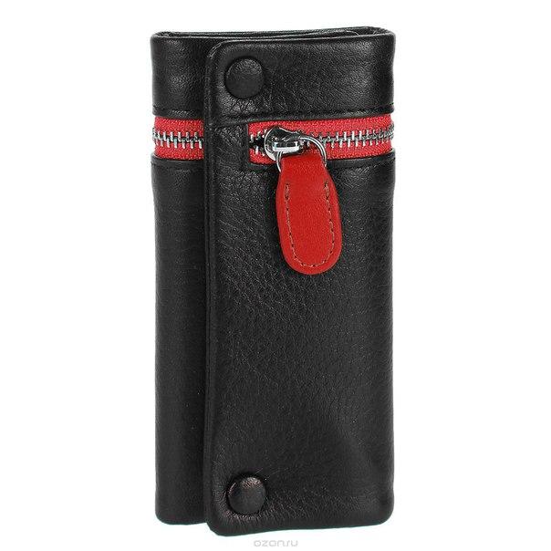 Ключница , цвет: черный, красный. qk27rd, S.Quire