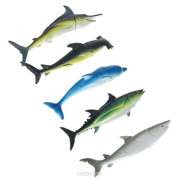 """Набор ручек """"рыбы"""", цвет: зеленый, синий, 5 шт. 002711, Карамба"""