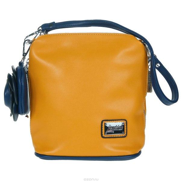 Сумка женская , цвет: желтый, синий. 52538-1092, Leighton