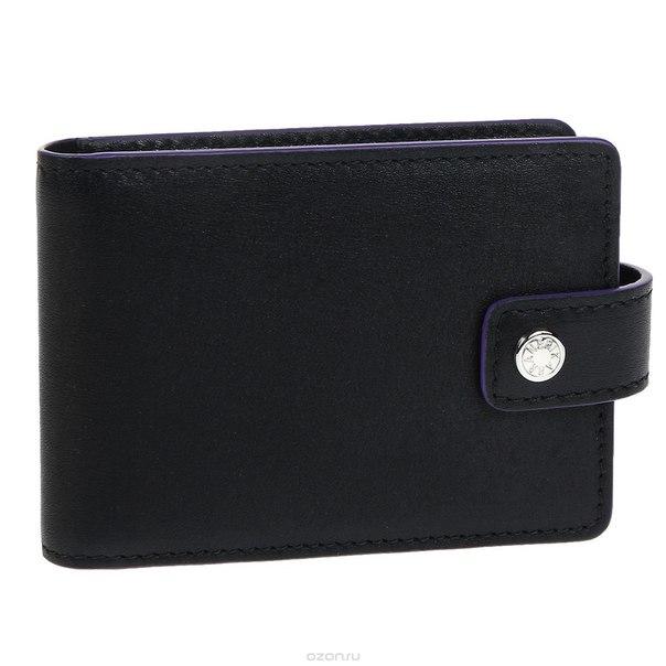 Визитница , цвет: черный, фиолетовый. 0243-41 501.01, Neri Karra
