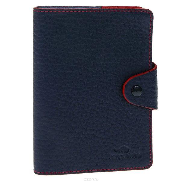 Обложка для паспорта , цвет: темно-синий. 3342-f, Cangurione