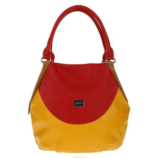 Сумка женская , цвет: оранжевый, красный. 350198-1092, Leighton
