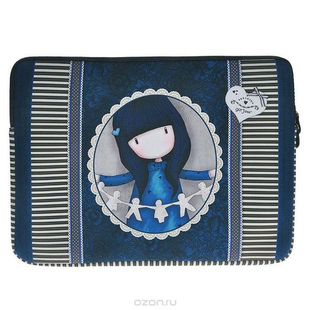 """Чехол для ноутбука """"family in a book"""", цвет: синий. 0012186, Santoro Gorjuss"""