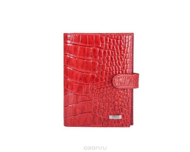 """Бумажник водителя """"кроко"""", с отделением для паспорта, цвет: красный. 15-331-16, Tirelli"""