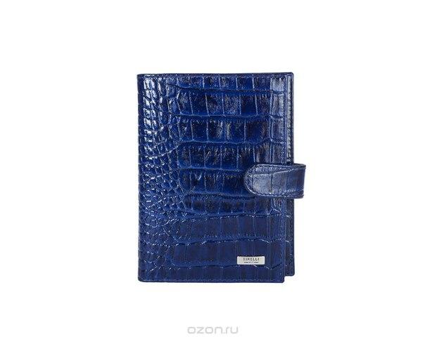 """Бумажник водителя """"кроко"""", с отделением для паспорта, цвет: синий. 15-331-15, Tirelli"""
