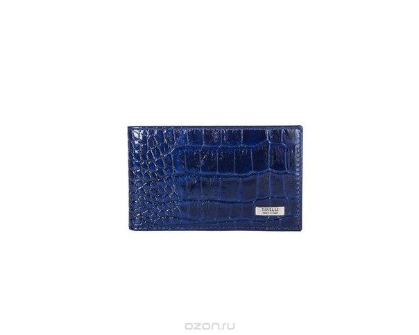 """Футляр для карточек """"кроко"""", цвет: синий. 15-325-15, Tirelli"""