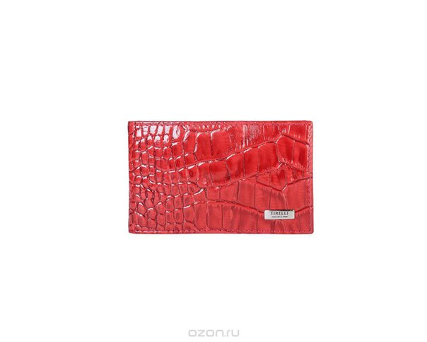 """Футляр для карточек """"кроко"""", цвет: красный. 15-325-16, Tirelli"""