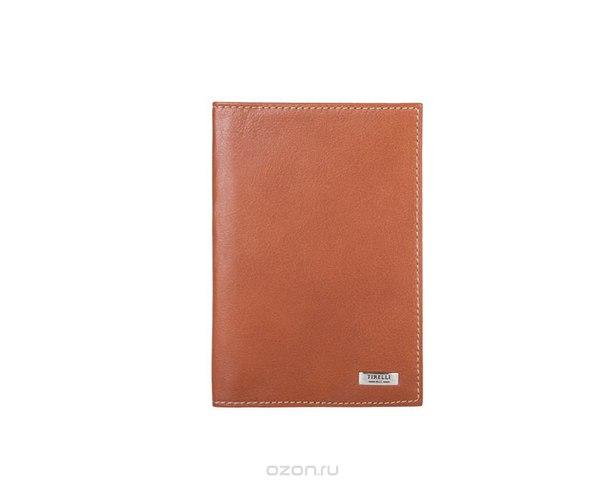 """Обложка для паспорта """"коньяк"""", цвет: рыжий. 15-333-11, Tirelli"""