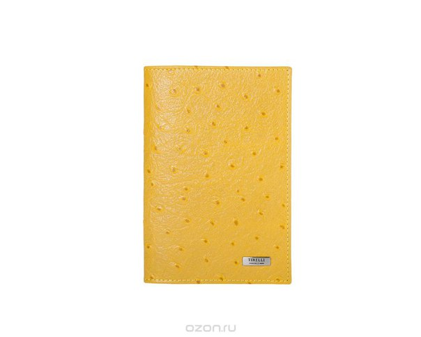 """Обложка для паспорта """"страус"""", цвет: желтый. 15-333-17, Tirelli"""