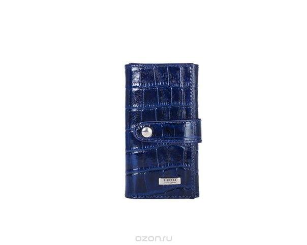 """Ключница маленькая """"кроко"""", цвет: синий. 15-334-15, Tirelli"""